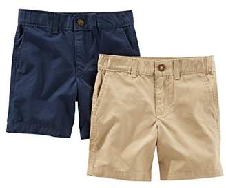 Carter's Simple Joys by Baby Boys' Toddler 2-Pack Flat Front Shorts