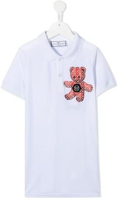 Philipp Plein Teddy Bear Print Polo Shirt