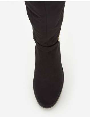 Very Laura Stretch Back Over The Knee Boot - Black