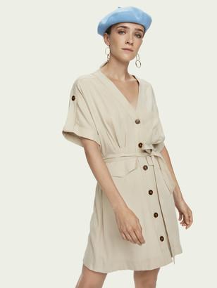 Scotch & Soda Sustainable Tencel short sleeve safari dress | Women