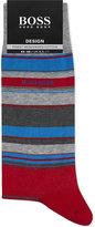 Boss Barcode Striped Fil D'ecosse Cotton Socks