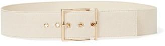 Forever New Melanie Thin Square Buckle Belt - Linen - xs s