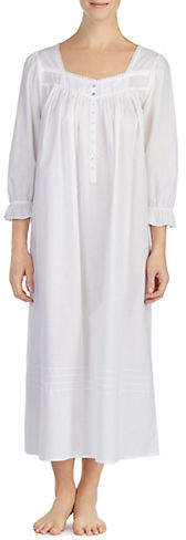 Eileen West Ballet Ruffle and Lace Trim Nightgown