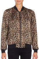 Vero Moda Leopard Print Bomber Jacket