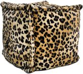 Bed Bath & Beyond Square Pouf Bean Bag Chair in Brown Leopard