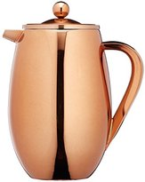 Kitchen Craft Le'Xpress 8-Cup Insulated Metal Cafetière, 1 Litre (1.75 Pints) - Copper Finish