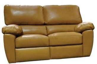 Omnia Leather Vercelli Reclining Loveseat Omnia Leather Body Fabric: Empire Butternut