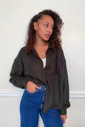 Urban Outfitters Benji Sherpa Button-Down Shirt