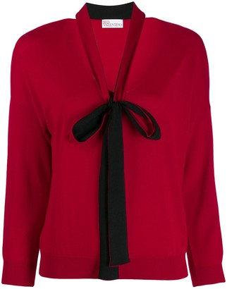 RED Valentino Bow-Detailed Jumper