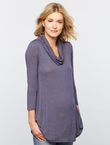 A Pea in the Pod Luxe Essentials Striped Cowl Maternity Shirt