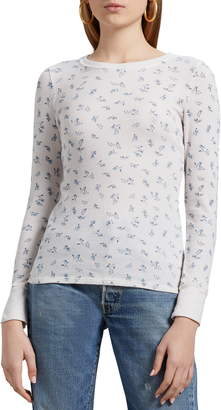 Michael Stars Jasmine Vintage Floral Thermal Top