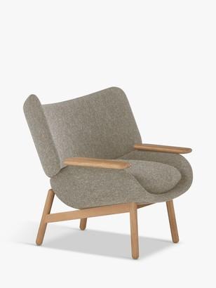 Doshi Levien for John Lewis Open Home Mudra Low Back Armchair, Oak Leg