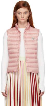 Moncler Pink Down Liane Vest