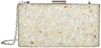 Jessica McClintock Jordana (White) Clutch Handbags