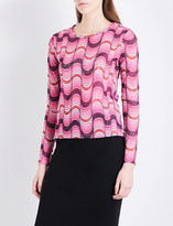 Opening Ceremony Wavy-print double-layer mesh top