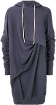 Rick Owens oversized draped hoodie - men - Cotton - S