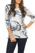 FDJ French Dressing Abstract Butterfly Top