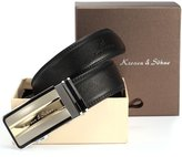 K&S KS Real Leather Dress Auto Lock Buckle Men's Luxury Belt +Gift Box