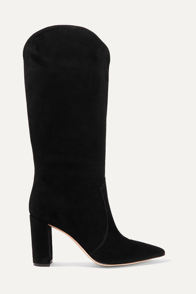 Gianvito Rossi 85 Suede Knee Boots - Black