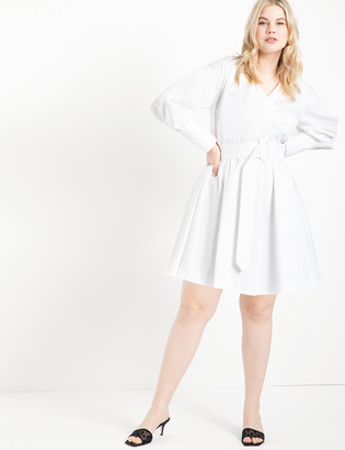 ELOQUII Belted Wrap Trench Dress