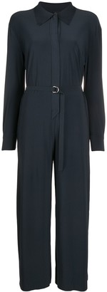 Norma Kamali Belted Cropped Jumpsuit
