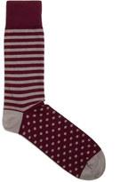 Corgi X Jigsaw Stripe Spot Sock