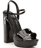Aldo Kandie Patent Leather Platform Sandals