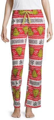 Asstd National Brand Womens-Juniors Fleece Pajama Pants Grinch