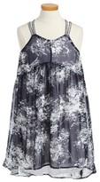 Calvin Klein Girl's Criss Cross High/low Dress