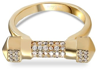 Opes Robur Gold Pave Cuff Ring