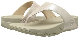 FitFlop Lulu Shimmersuede (Nude) Women's Sandals