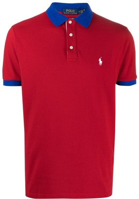 Polo Ralph Lauren Contrasting Trim Embroidered Polo Shirt