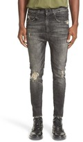 R 13 Men's Destroyed Drop Crotch Skinny Jeans