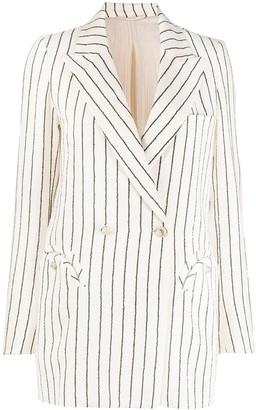 BLAZÉ MILANO Striped Double-Breasted Blazer