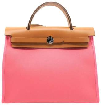 Hermes Herbag Top Handle PM Pink