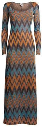 Missoni Lurex Zigzag Maxi Dress