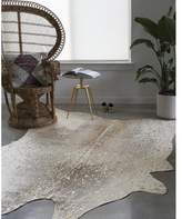 Union Rustic Duran Pewter/Gold Area Rug Rug