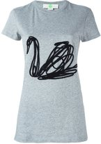 Stella McCartney embroidered swan T-shirt