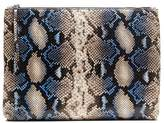 Banana Republic Snake-Effect Leather Large Zip Pouch