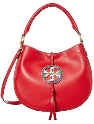Tory Burch Miller Stained Glass Mini Hobo (Red Apple) Handbags