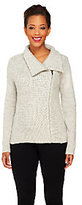 Isaac Mizrahi Live! 2-Ply Cashmere Motorcycle Sweater Jacket