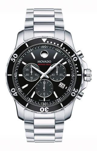 Movado Series 800 Chronograph Watch, Gray/Black