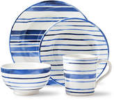 Ralph Lauren Cote d Azur Striped 4-Piece Dinnerware Set