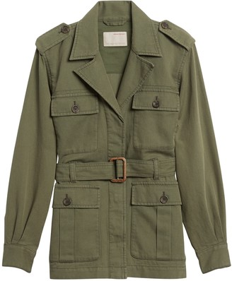 Banana Republic Petite Heritage Cotton-Linen Safari Jacket