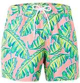 Topman Palm Print Swim Shorts