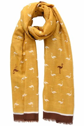 Style Slice Bird Scarves | Flamingo Scarfs | Robin & Owl Scarf | Animal Wraps | Womens | Lightweight | Chiffon | Gifts Presents | Stocking Fillers | Birthday | Nature | Prime UK | Christmas | Secret Santa Ideas |