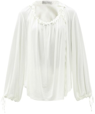 Palmer Harding First Moment Ruched Jersey Blouse - Ivory