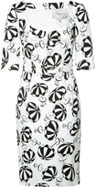 Carolina Herrera parasol print dress - women - Cotton/Spandex/Elastane - 2