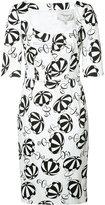 Carolina Herrera parasol print dress - women - Cotton/Spandex/Elastane - 6