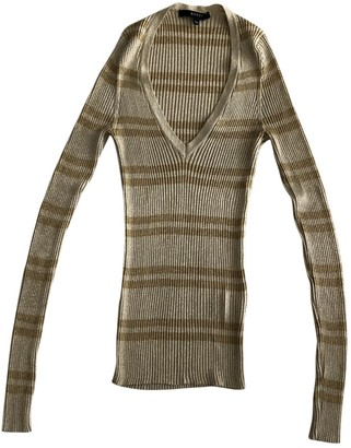 Gucci Gold Cotton Knitwear for Women